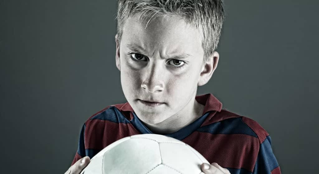 Upset Child with ball