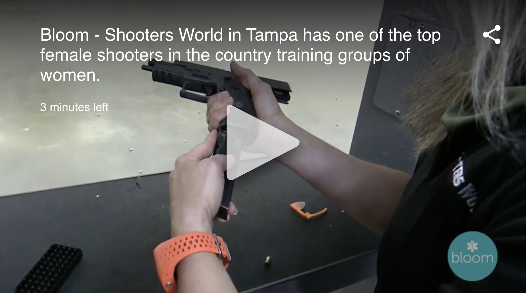 Shooters word in tampa has one of the top female shooters in the country