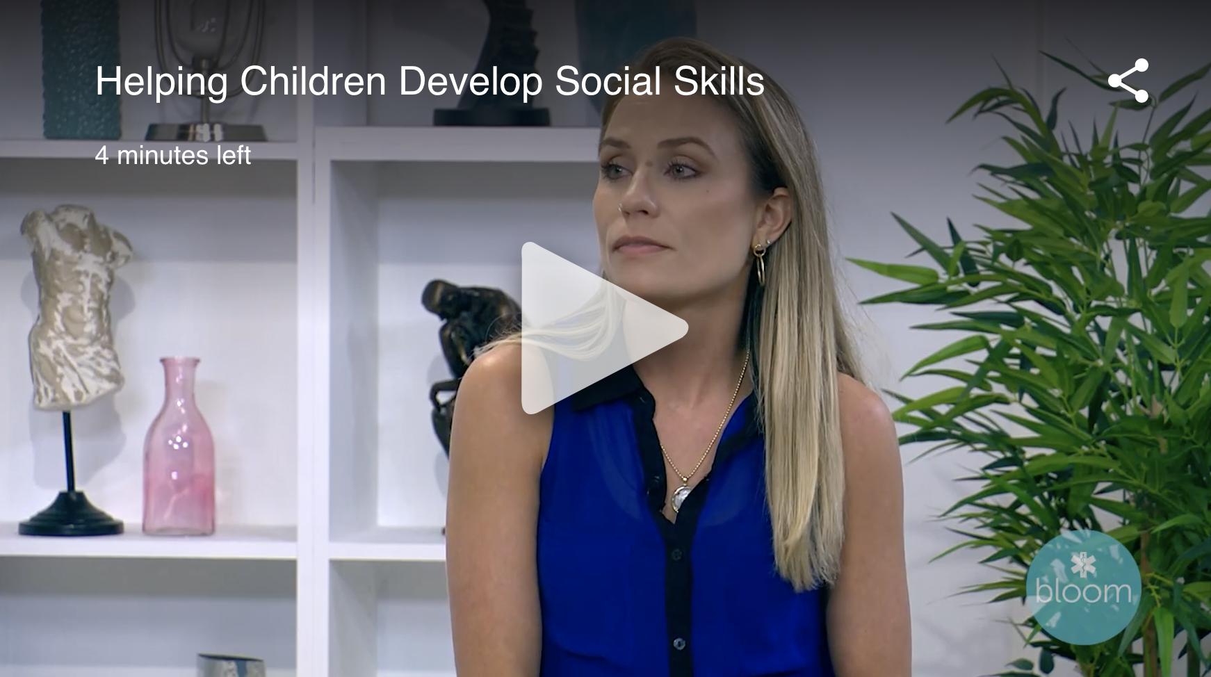 helping children develop social skills
